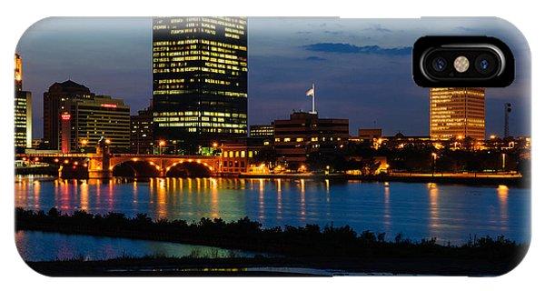 D12u152 Toledo Ohio Skyline Photo IPhone Case