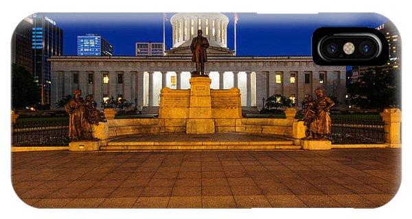 D13l112 Ohio Statehouse Photo IPhone Case