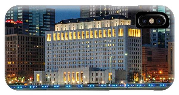 D2l496 Columbus Ohio Night Skyline  IPhone Case
