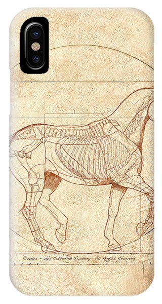 American iPhone Case - da Vinci Horse in Piaffe by Catherine Twomey