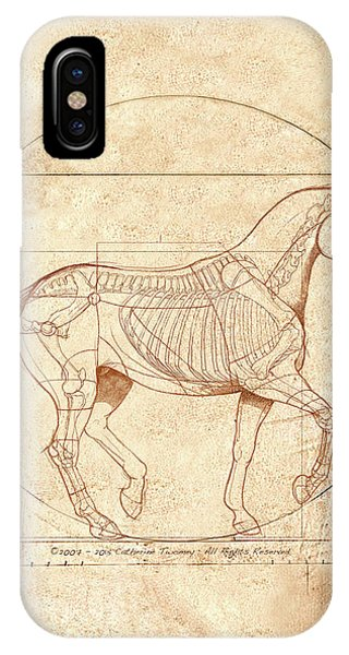 Horse iPhone X Case - da Vinci Horse in Piaffe by Catherine Twomey