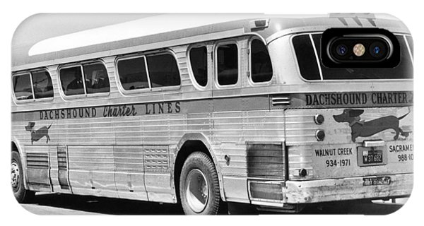 1958 iPhone Case - Dachshound Charter Bus Line by Underwood Archives