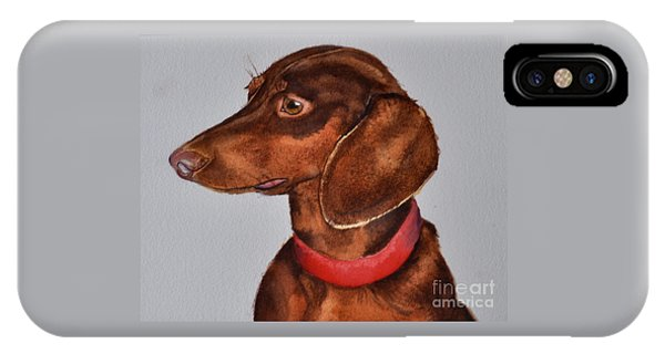 Dachshund Watercolor Painting IPhone Case