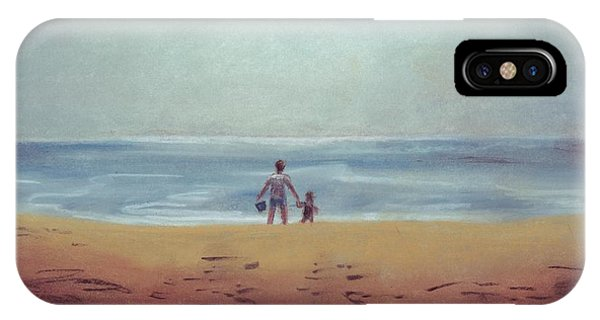 Daddy At The Beach IPhone Case