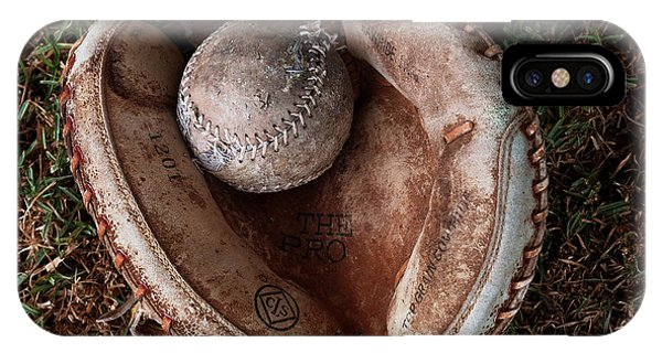 It Professional iPhone Case - Dad's Old Ball And Glove by Lorenzo Williams