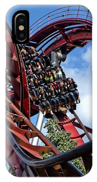 Daemonen - The Demon Rollercoaster - Tivoli Gardens - Copenhagen IPhone Case