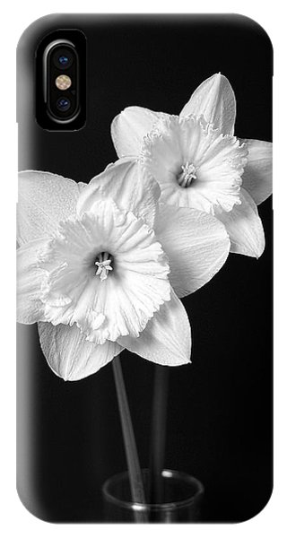 Daffodil Flowers Black And White IPhone Case