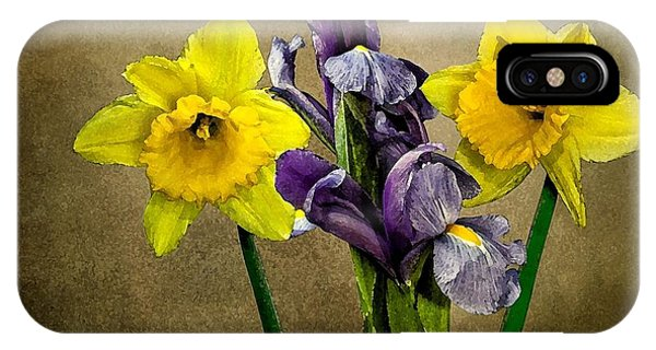 Daffodils And Iris IPhone Case