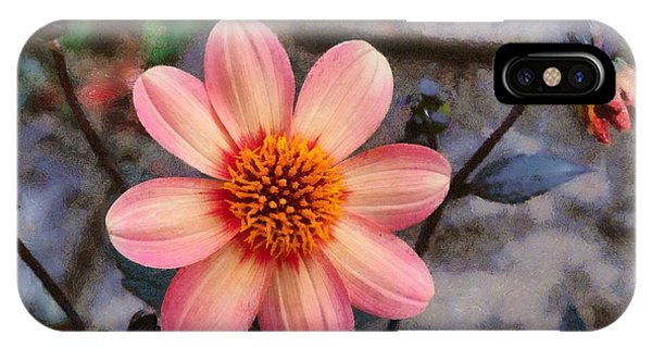IPhone Case featuring the digital art Dahlia First Love by Paul Gulliver