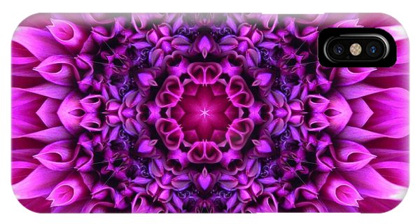 Dahlia Pink Star Mandala IPhone Case
