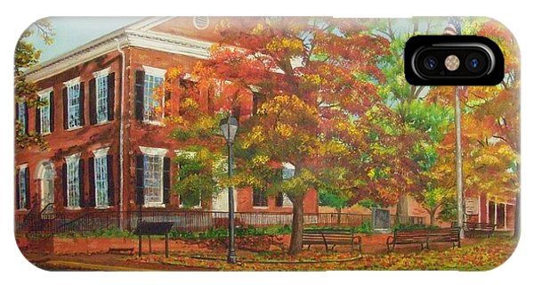 Dahlonega's Gold Museum In Autumn IPhone Case