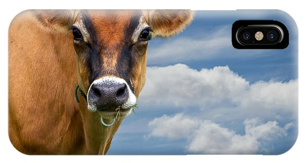 Uplift iPhone Case - Dairy Cow  Bessy by Bob Orsillo