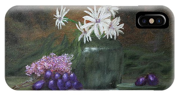 Daisies In Green Vase IPhone Case