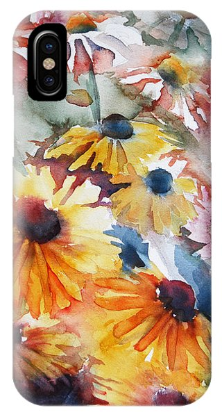 IPhone Case featuring the painting Daisies by Jani Freimann
