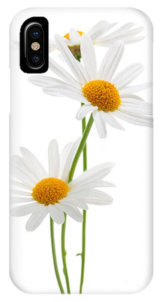Daisies On White Background IPhone Case