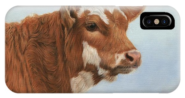 Cow iPhone X / XS Case - Daisy by David Stribbling