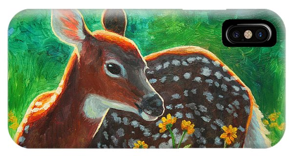 Deer iPhone Case - Daisy Deer by Crista Forest