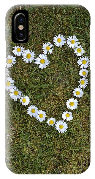 Daisy Heart Phone Case by Tim Gainey