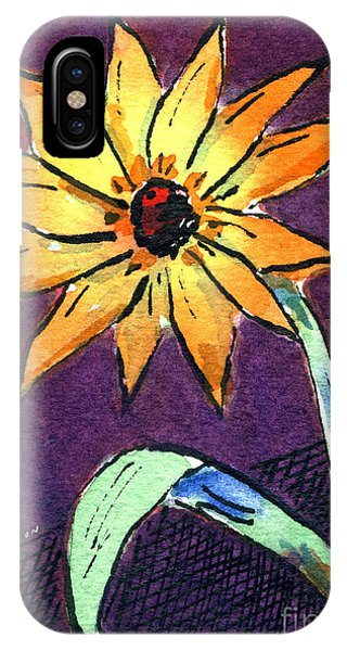 Daisy On Dark Background IPhone Case