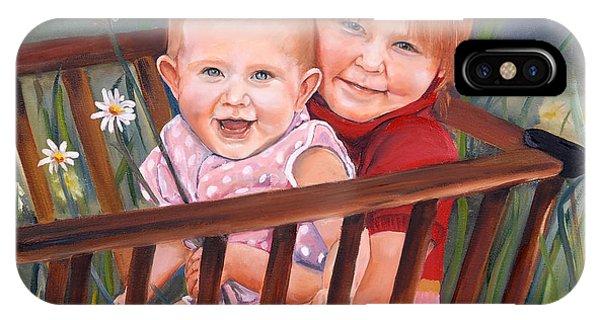 Daisy - Portrait - Girls In Wagon IPhone Case