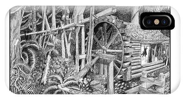 Water Wheel Alderbrook Hood Canal W A IPhone Case