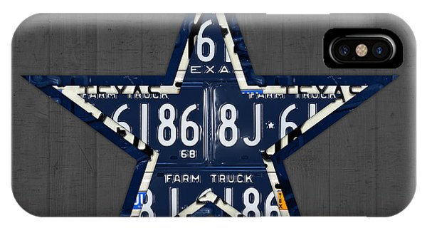 University iPhone Case - Dallas Cowboys Football Team Retro Logo Texas License Plate Art by Design Turnpike