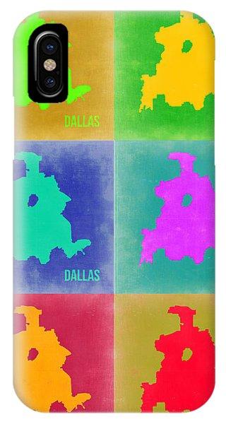 Dallas iPhone Case - Dallas Pop Art Map 3 by Naxart Studio
