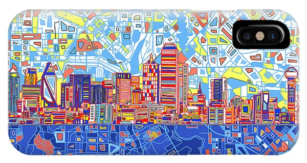 Dallas Skyline Abstract 5 IPhone Case
