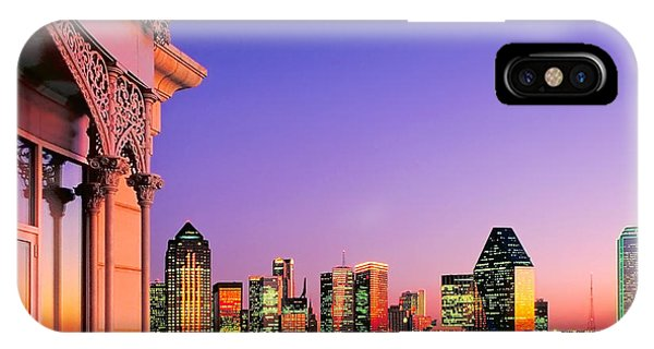 Dallas Skyline At Dusk IPhone Case