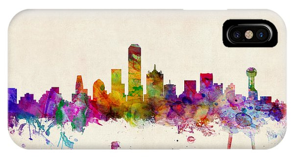 United States iPhone Case - Dallas Texas Skyline by Michael Tompsett