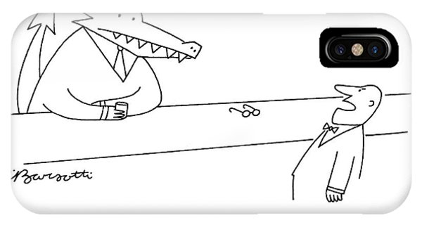 Crocodile iPhone Case - Damn It, He Was A Regular by Charles Barsotti