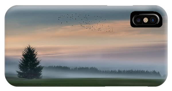 Evening iPhone Case - Dance In The Clouds by Shenshen Dou