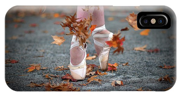 Dancing iPhone Case - Dance In The Fall Wind by Rob Li