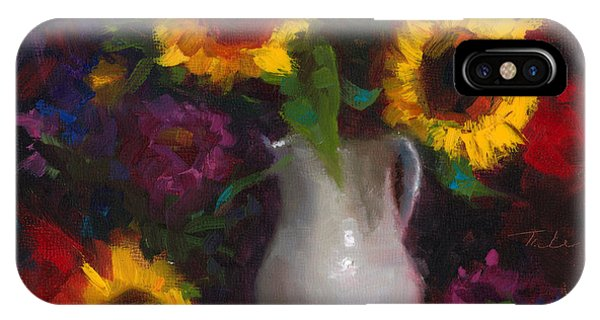 Dance With Me - Sunflower Still Life IPhone Case