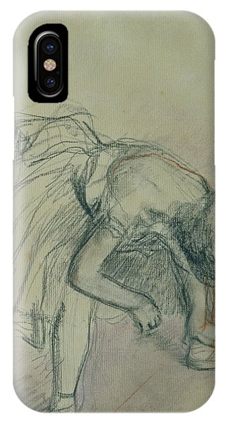 Impressionistic iPhone Case - Dancer Fixing Her Slipper by Edgar Degas