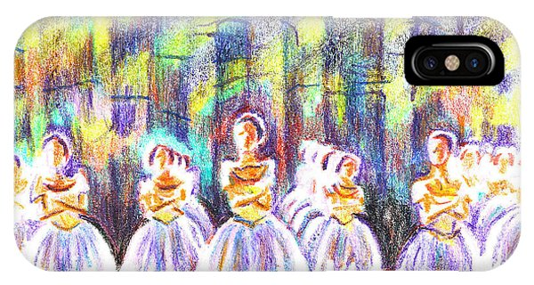 Dancers In The Forest IPhone Case
