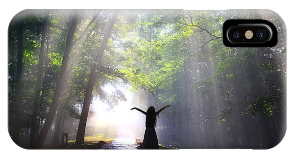 Dancing In God's Light Copyright Willadawn Photography IPhone Case