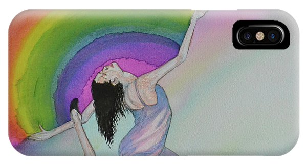Dancing In Rainbows IPhone Case