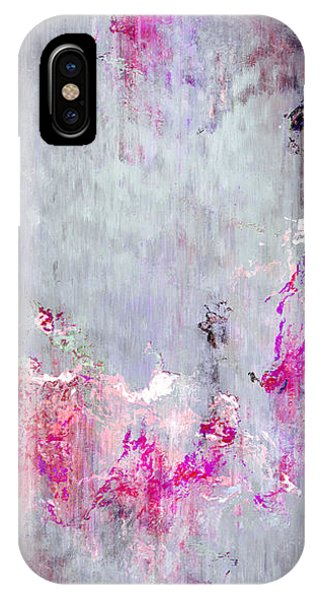 IPhone Case featuring the mixed media Dancing In The Rain - Abstract Art by Jaison Cianelli