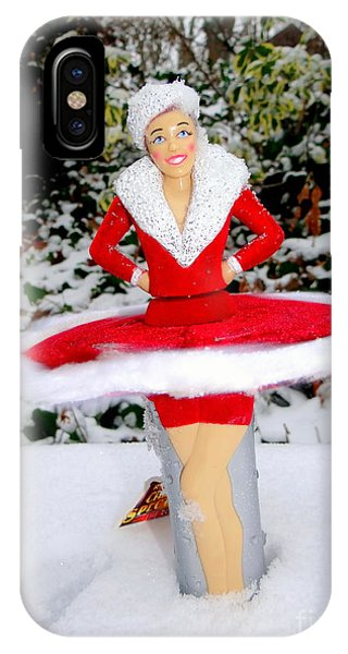 Rockettes iPhone Case - Dancing In The Snow by Ed Weidman