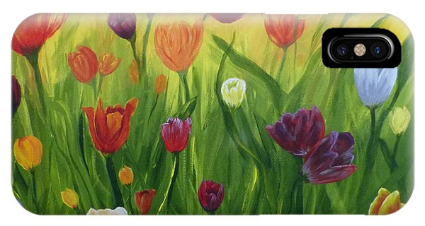 Dancing Tulips IPhone Case