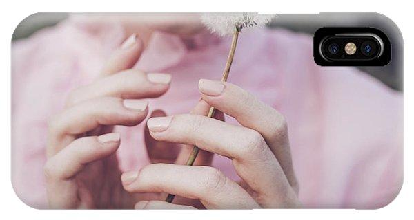 Lips iPhone Case - Dandelion by Dorota G??recka