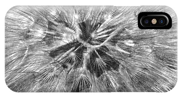 Dandelion Fireworks In Black And White IPhone Case