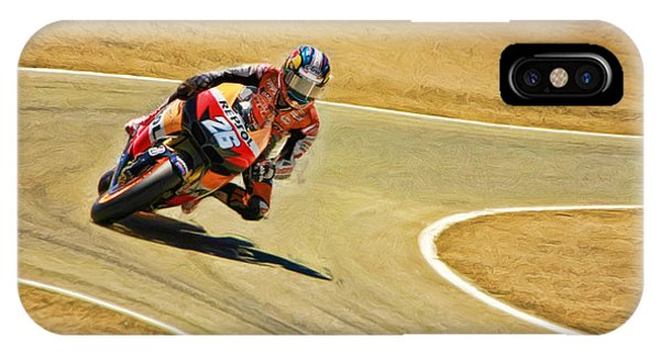 Dani Pedrosa Running Out Of Road IPhone Case