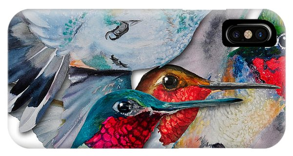 Da133 Hummingbirds By Daniel Adams IPhone Case