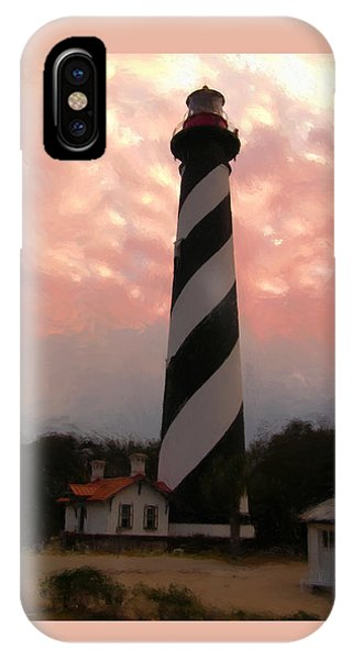 Da127 St. Augustine Lighthouse By Daniel Adams IPhone Case