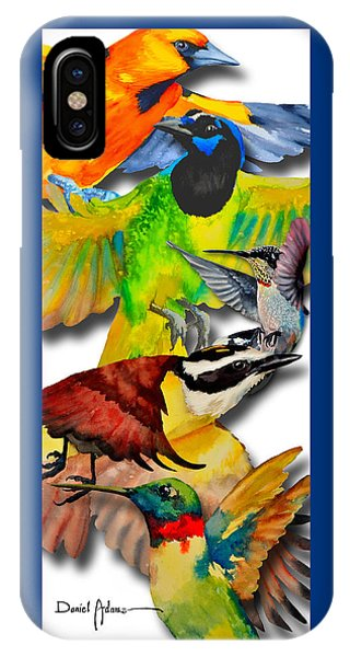 Da131 Multi-birds By Daniel Adams IPhone Case