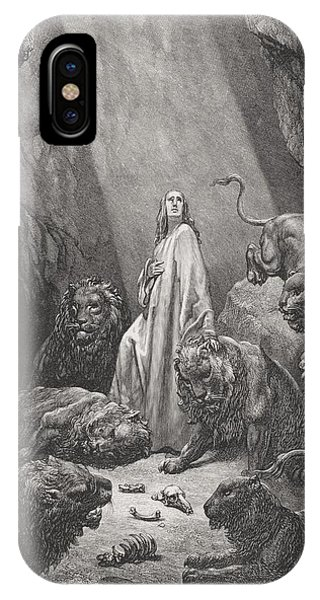 Daniel In The Den Of Lions IPhone Case