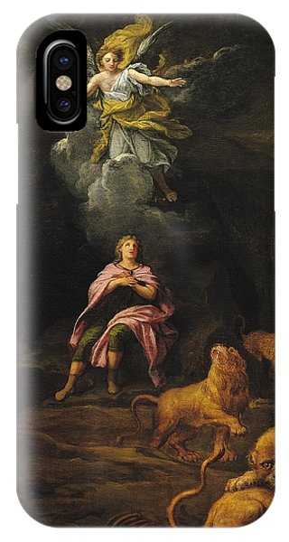 Dungeon iPhone Case - Daniel In The Den Of Lions Oil On Canvas by Francois Verdier