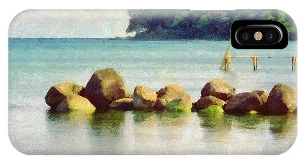 Danish Coast On The Rocks IPhone Case
